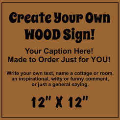 Custom Wood Business Sign - Make Your Own 12x12
