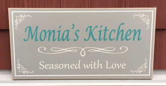 Seasoned With Love Personalized Sign