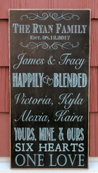 Happily Blended Family Sign