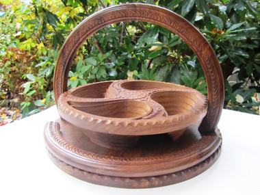 collapsible folding wooden basket