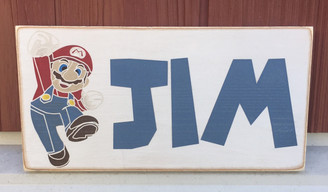Boy name sign - Mario Brothers