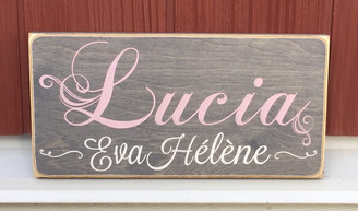 Kids First and Middle Name Sign