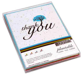 Thank You Plantable Seeded Paper Greeting Card Set
