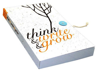 Plantable Seeded Lined Paper Journal - Orange Branch