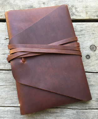 leather journal - The Messenger