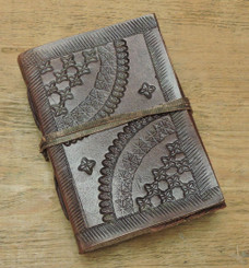 hand made extra small old world style leather journal