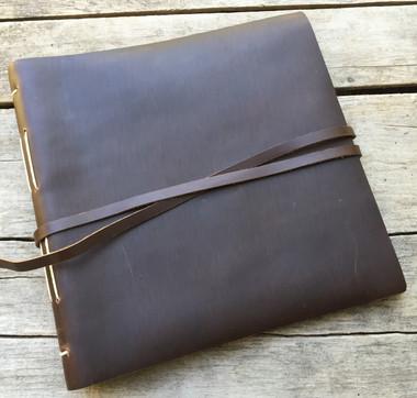 Leather Journal Album Big Idea - Dark Brown