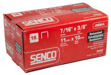 "Senco 18ga 3/8"" Length 7/16"" Crown Staples J06BAA"