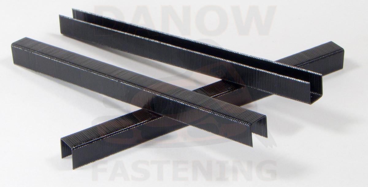 3 8 22 Gauge 3 8 Crown Black Upholstery Staples 10 000 Per Box