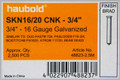 "Haubold 16 Ga. 3/4"" Galv. Finish Nails - 2,500 per Box - SKN16/20 CNK"