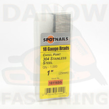 """1"""" 18 Gauge Stainless Steel Brad Nails 18116SS"""