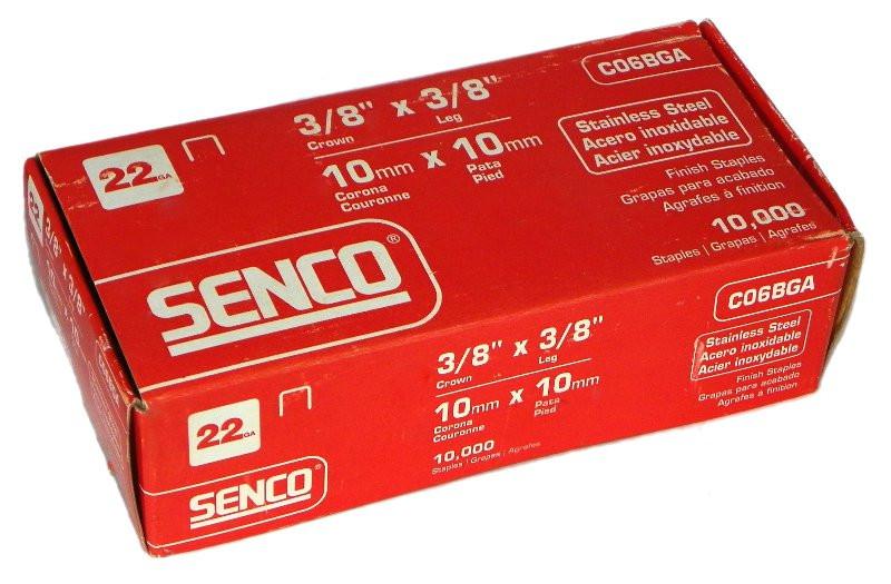 "Senco 3//16/"" crown 1//2/""   Lot Of 7 Galvanized Staples A08BAB Senco Staples Boxes"