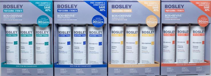 bosley professional strength hair care , hair loss & thinning products