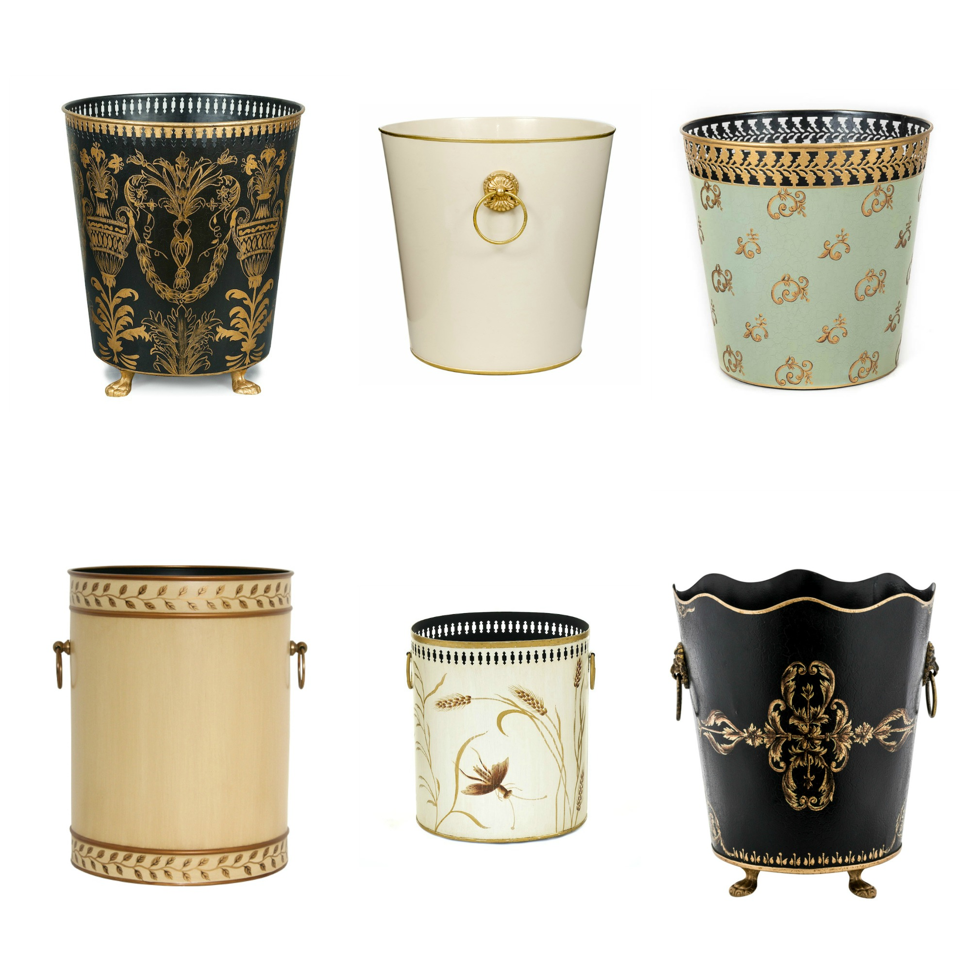 English Country House Room Decor Waste Paper Bins Baskets
