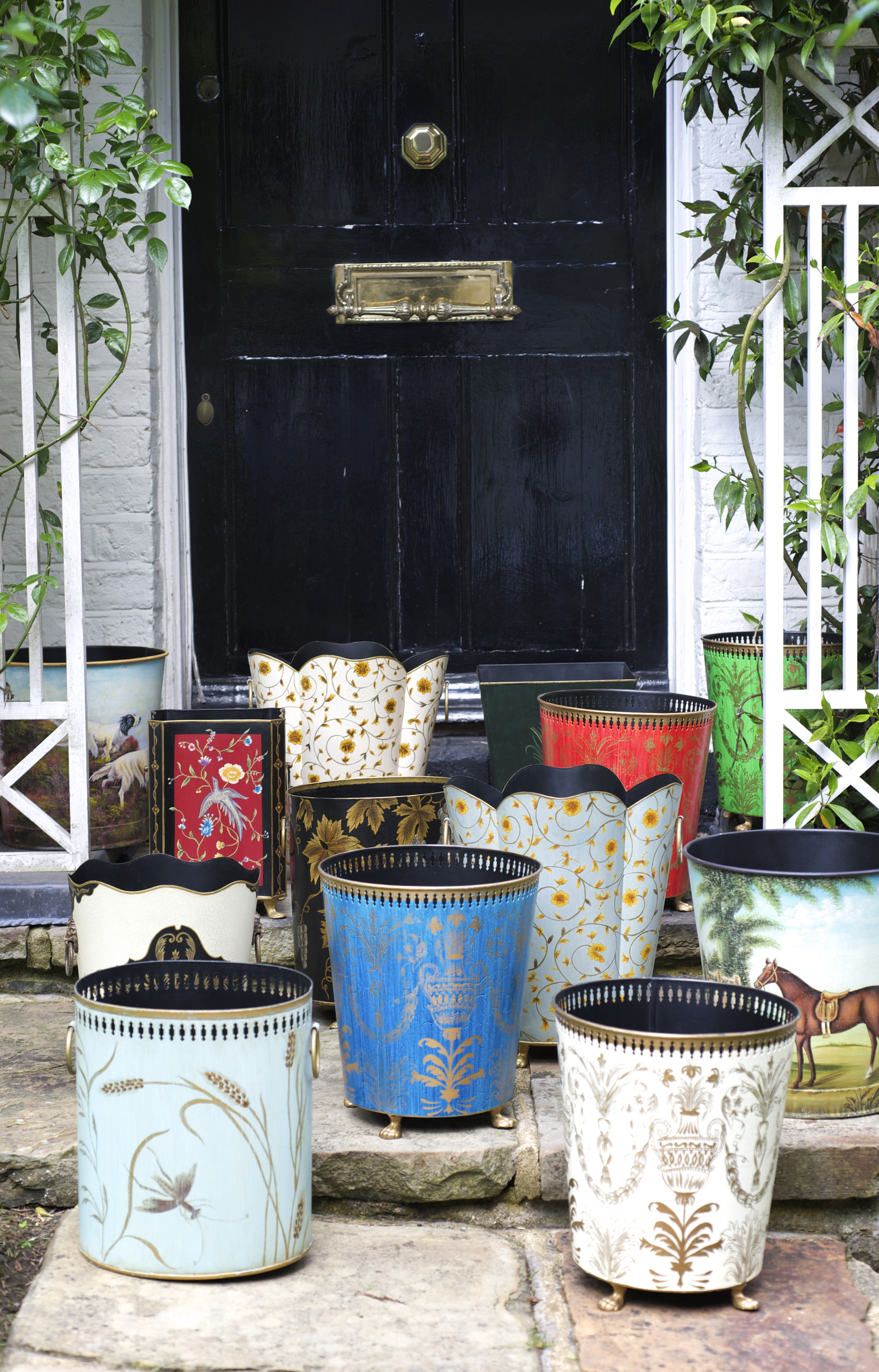 English Country House Decor Waste Paper Bins Baskets Accessories