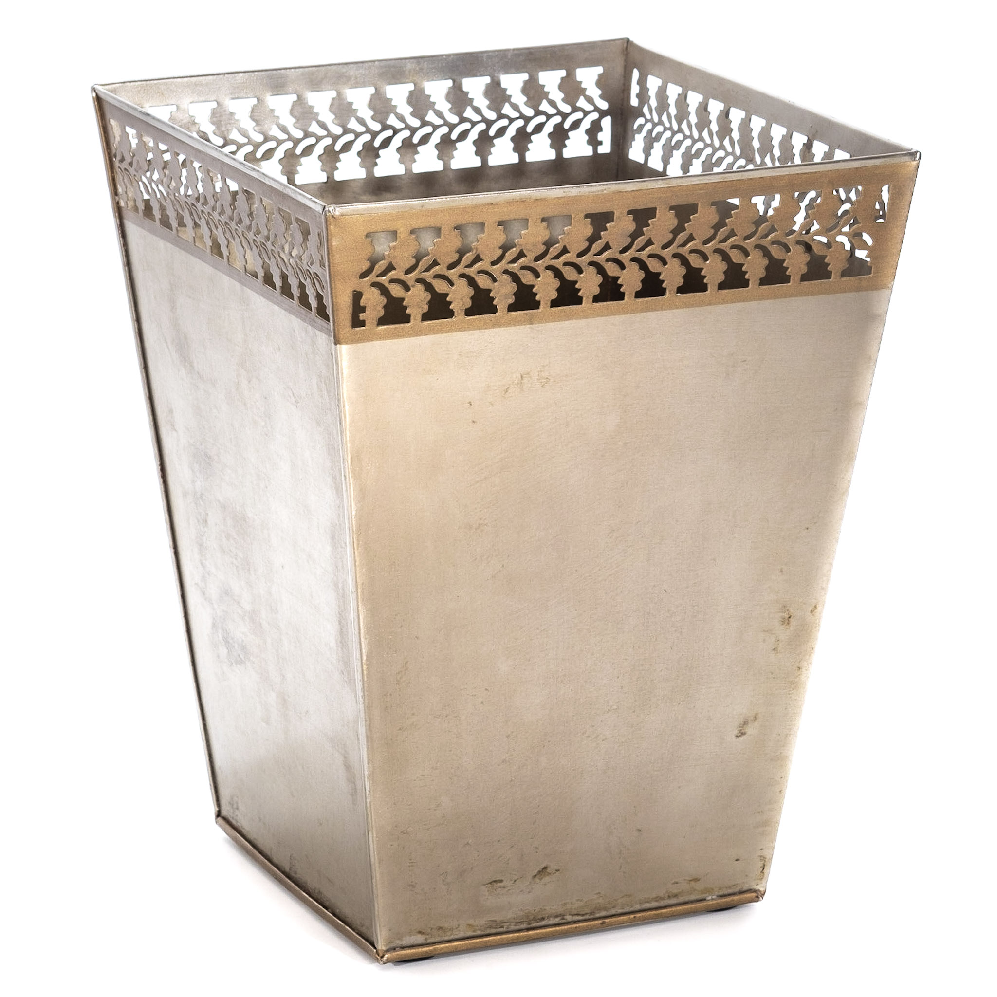 Bronze Fancy Luxury Bedroom Waste Paper Bin Basket