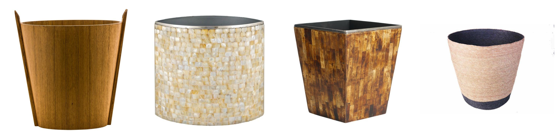 Natural Materials Eco Waste Paper Bins Baskets Room Decor