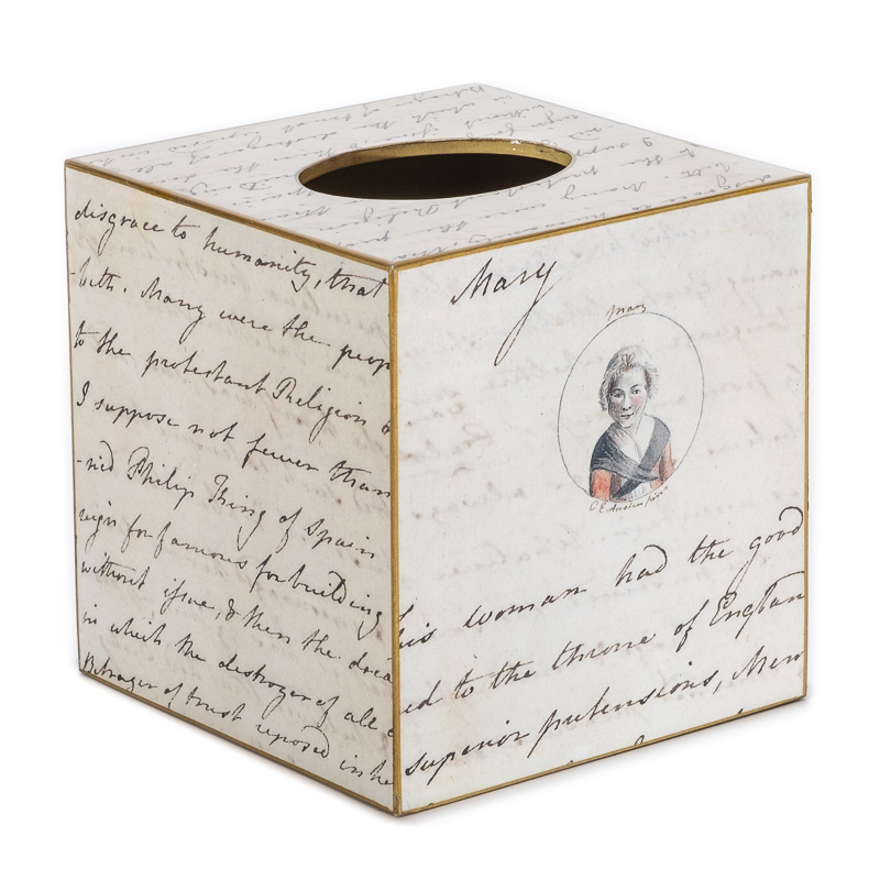 Traditional Classic English Decor Jane Austen Tissue Box Cover