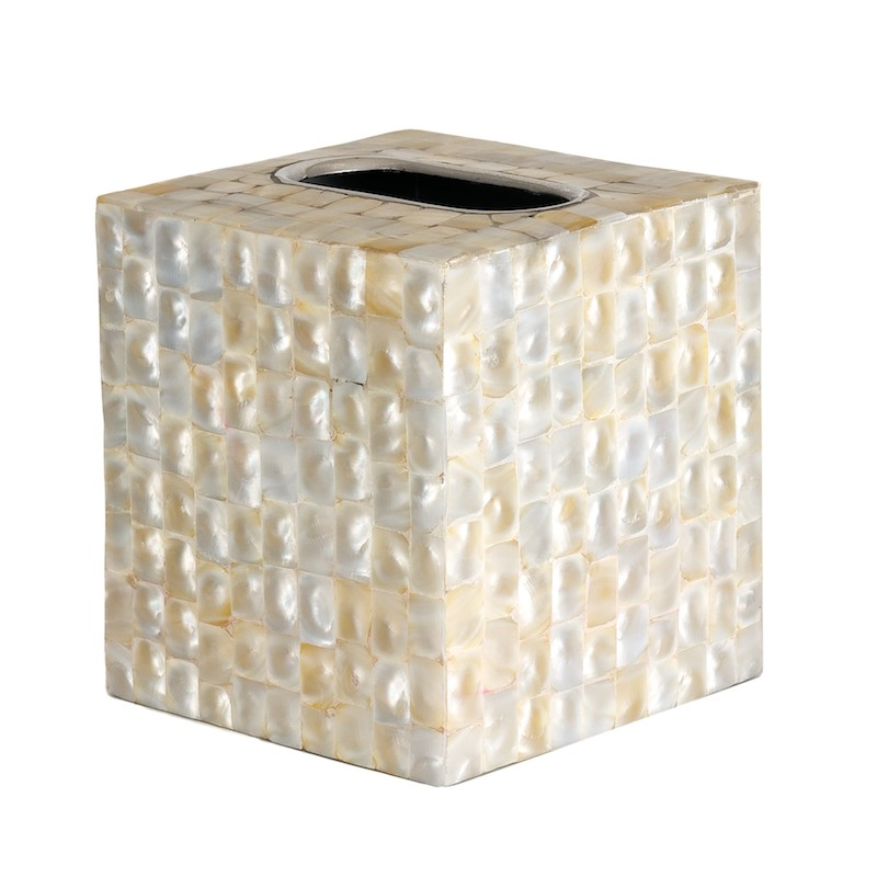 Mother of Pearl Inaly Luxury Ivory Tissue Cover