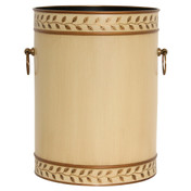 Grecian Leaves Waste Paper Bin - Ivory