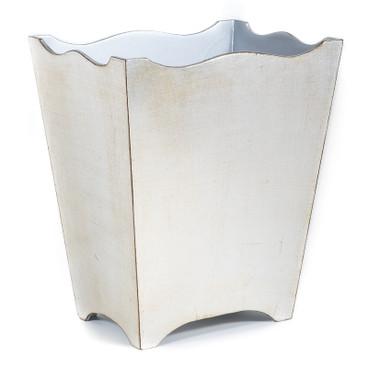 Brushed Silver Waste Paper Basket