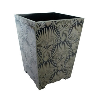Morris Palm Patterned Waste Paper Bin (wooden)
