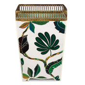 Autumn Decoupage Waste Paper Bin with Trim (wooden)