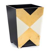 Black & Gold Art Nouveau Waste Paper Bin