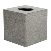 Pewter Galuchat Square Tissue