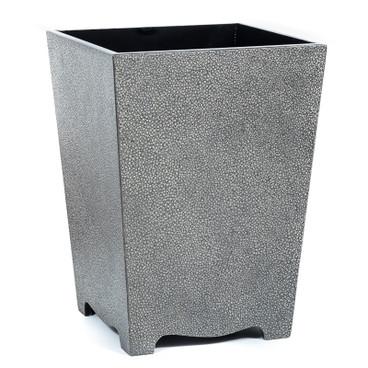 Pewter Galuchat Waste Paper Bin