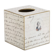 Jane Austen Tissue Box - Side and Front View