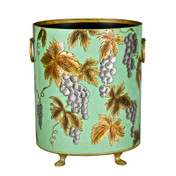 Green / Blue Grapevine Waste Paper Bin