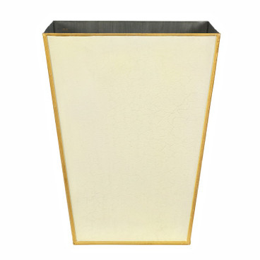 Small Plain Pastel Waste Paper Bin - Ivory