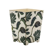 Wooden Autumn Waste Paper Bin (side view)