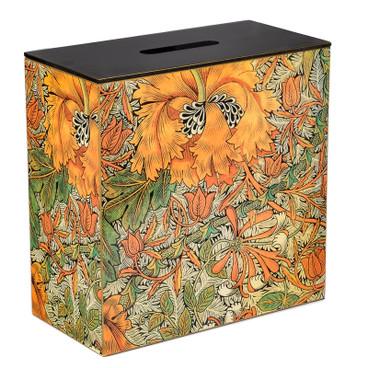 Double Bathroom Storage / Tidy Box - Orange Morris Vine