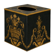 Black Festoon Tissue Box Cover
