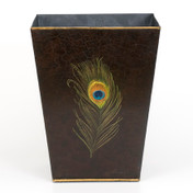 Peacock Waste Paper Bin - Charcoal