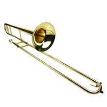 Gold Lacquer Bb Slide Trombone