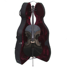Handcrafted Black Cello with Hard Case CL150-BK
