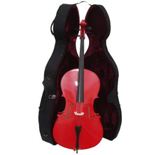 Handcrafted Red Cello with Hard Case ML150-RE