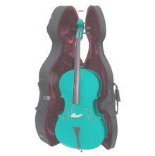 Handcrafted Blue Green Cello with Hard Case MC100-BG