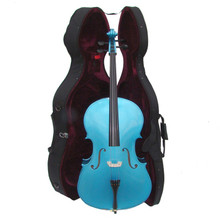 Handcrafted Bright Blue Cello with Hard Case MC150-BB