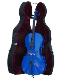 Handcrafted Blue Cello with Hard Case MC150DBL
