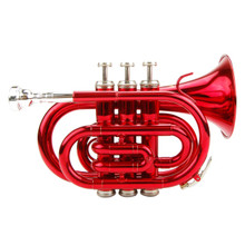 Red Lacquer Pocket Trumpet PT100-RE