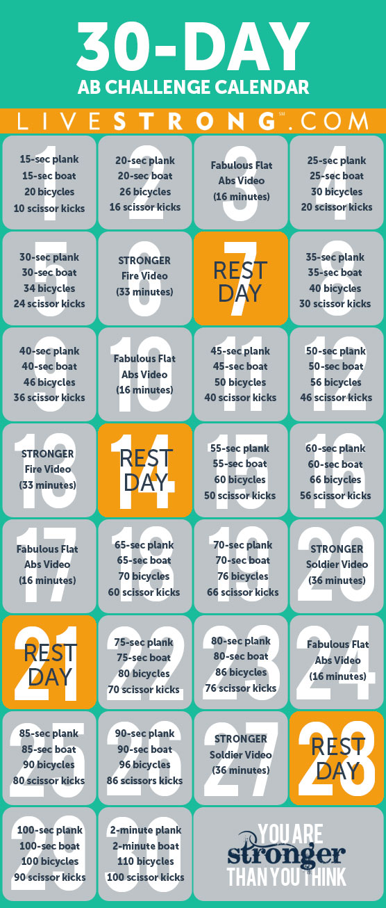 30 Day Ab Challenges