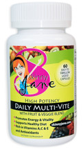 High Potency Daily Multi Vitamin by Skinny Jane - Supports Dieting and Enhanced Energy and Well-Being (60 liquid caps) - Very effective multiple vitamin that is easily digested and absorbed by your body. Easy to swallow liquid caps make taking the Skinny Jane Multi-Vite a cinch. 30 day supply and less than $1 a day.