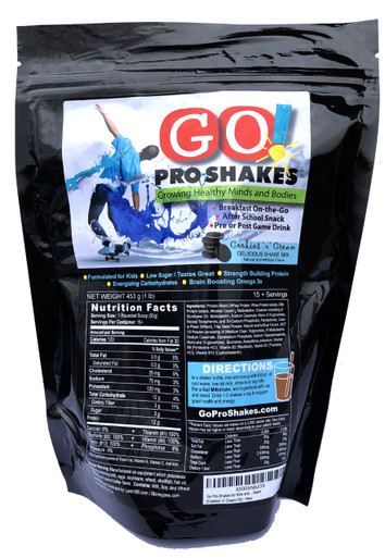 GO! Pro-Shakes are a Delicious, Power Packed Shake Kids and Teens Love! These shakes are a perfect blend of nutrients to nourish growing minds and bodies. GO! Shakes have four, High Quality Proteins that have all the essential amino acids required for growing muscles. You won't find a healthier, more convenient snack that your kids will love!