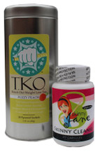 Skinny Jane Quick Cleanse Kit -  Peach T.K.O. Weight Loss Tea and Skinny Cleanse. A very effective, yet gentle cleanse kit that won't upset your stomach. Great for jump-starting your metabolism and detoxing your body so you can lose weight faster.