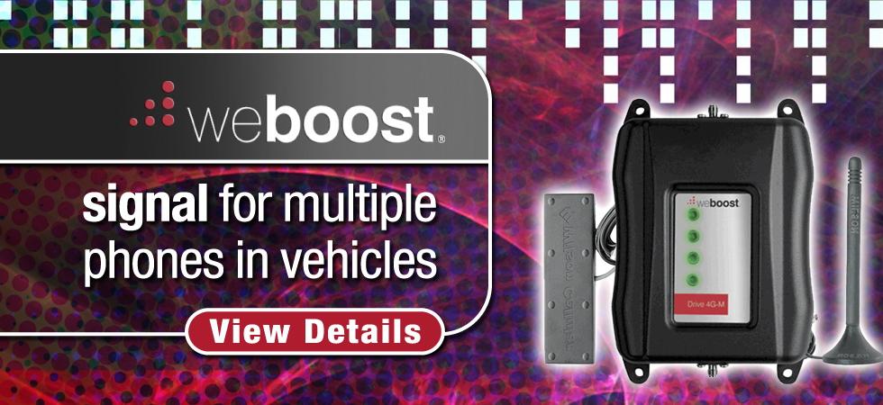 Amplifier kit to boost reception in vehicles for multiple devices