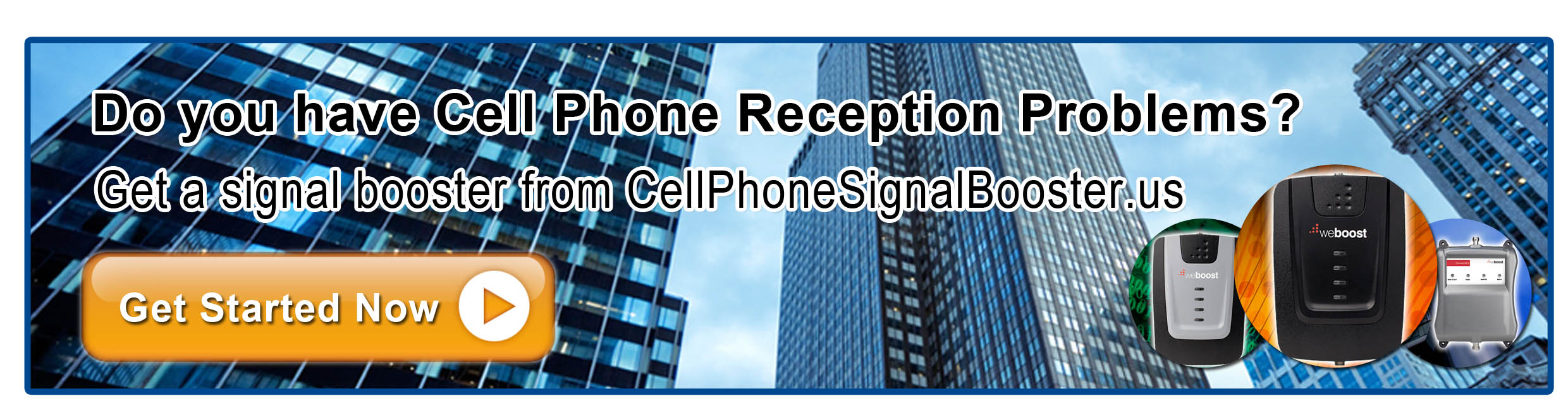 Buy a cell phone signal booster, today!